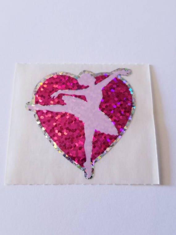 Strip of VINTAGE RETIRED Stickers/' Sandylion HEARTS MULTI COLOR /& SIZE