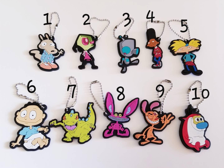 90\'s Nick 2D Keychain YOU CHOOSE Invader Zim Rugrats Ren | Etsy
