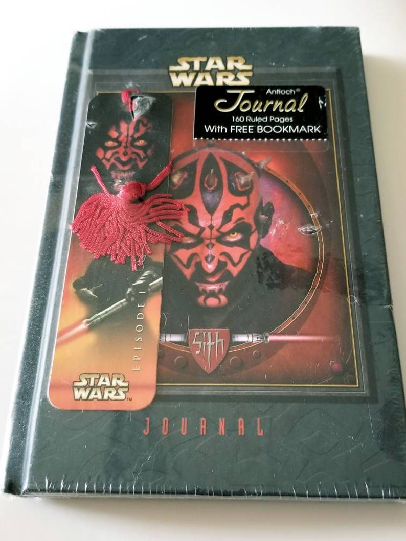 Vtg Star Wars Journal with bookmark NIP diary Sith Episode 1 Villain Antioch
