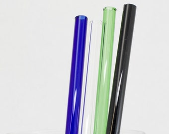 Glass Straw in Your Choice of Color