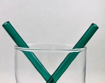 Cocktail Glass Straw in Lake Green, #895-6