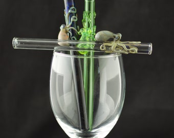 Octopus Cocktail Glass Straw in Your Choice of Color