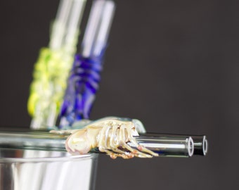 Facehugger Alien Glass Straw in Your Choice of Color