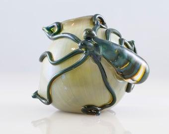 Octopus Glass Globe Terrarium in Blue Moon & Alien Tech, #811