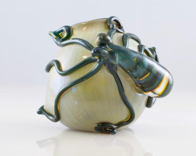 Featured listing image: Octopus Glass Globe Terrarium in Blue Moon & Alien Tech, #811