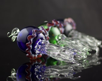 Jellyfish Glass Ornament in Your Choice of Color