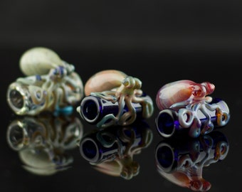 Octopus Dreadlock Bead / Glass Dread Bead / Boho Accessories / Big Hole Glass Bead / You Choose the Color / Made to Order