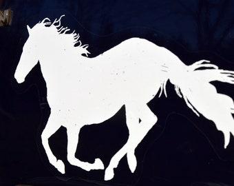 White Horse Sticker