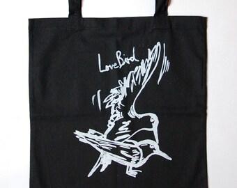 Lovebird Tote Bag  black