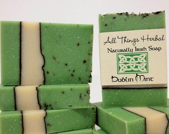 Dublin Mint Irish Soap - gift for the lover of all things Irish, All Natural Soap, Refreshing Mint, St Patricks Day gift