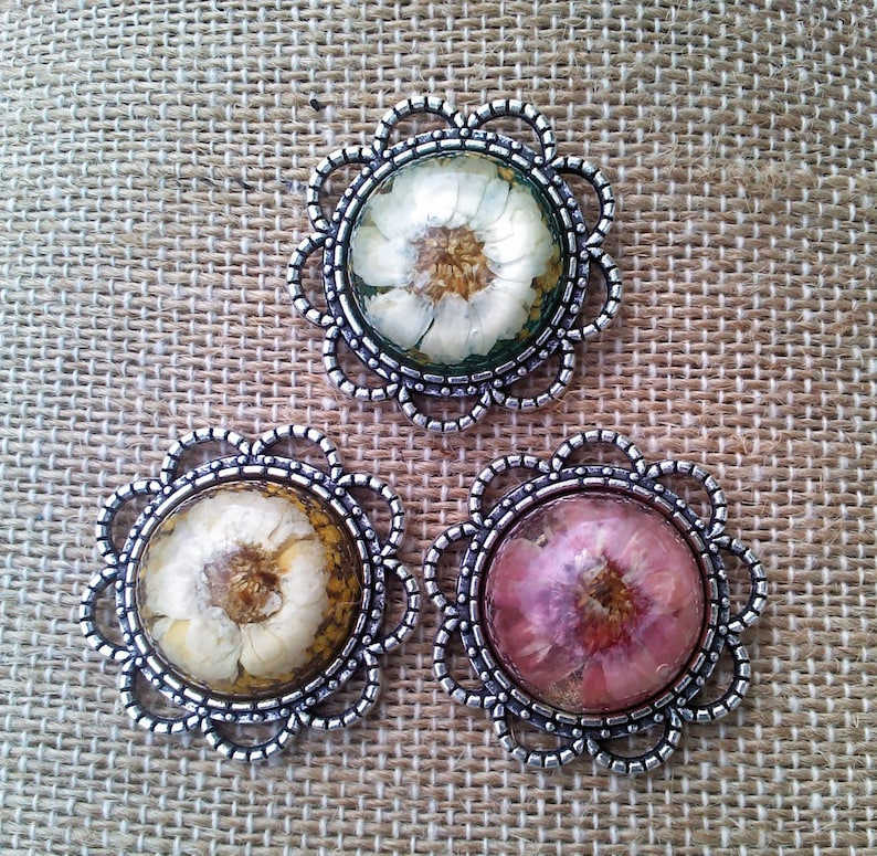 Choice of 3 colors Pressed dried Rose flower cabochon neckline concealer broach pin lapel pin Ln1778 by Lynn pocket pin resin cabochon