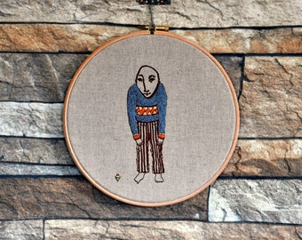 embroidery hoop wall haning The Toy Top