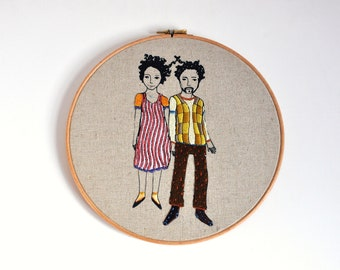 embroidery hoop art wall hanging Connected Dream