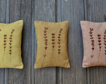 lavender sachet scented pillow - home dye fabric