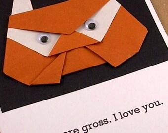 Origami Troll Card (I love you)
