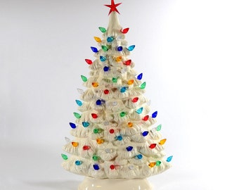 Ceramic Christmas tree White Windowsill made to order