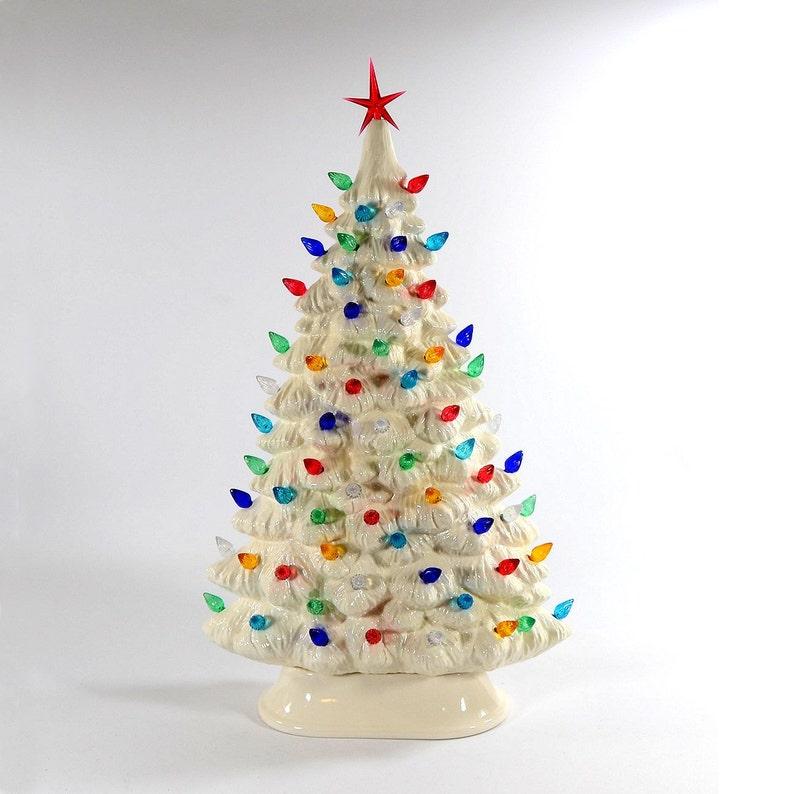 Christmas Made To Order Cast.Ceramic Christmas Tree White Windowsill Made To Order