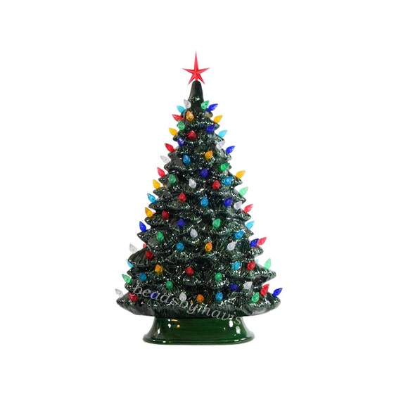 Christmas Made To Order Cast.Windowsill Style Lighted Ceramic Christmas Tree Made To Order 2 Weeks