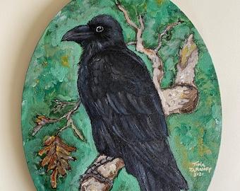 Edgar - Original Acrylic Painting, 8 x 12  inches