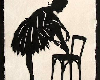 Hand-Cut Papercut Art - ANNA PAVLOVA Ballerina Silhouette