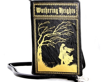 WUTHERING HEIGHTS Book Clutch Crossbody Handbag