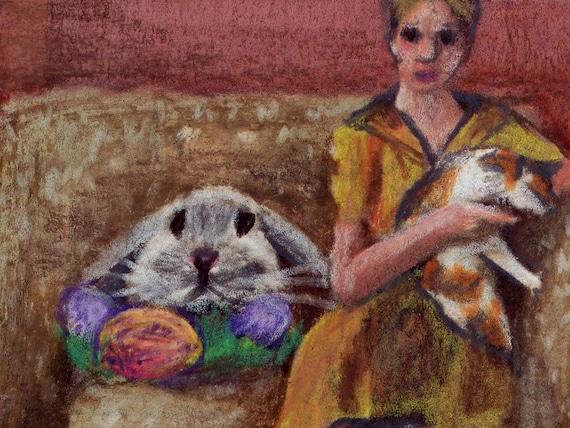 original art  aceo drawing Whistler/'s Cat masterpiece art
