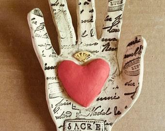 Sacr'e Coeur Wall Hand Custom Wall Hand