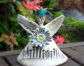 Custom Fairy Queen holding Flower - made to order
