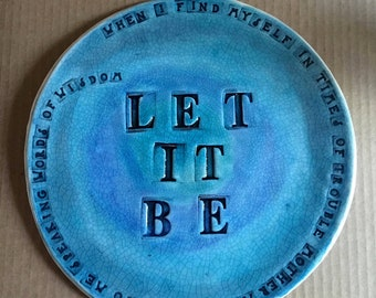 Let it Be Wall Tile with Beatles Lyrics - custom made to order
