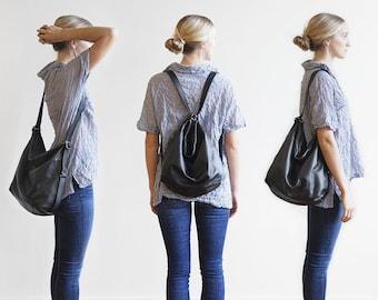 3-in-1 Hobo Pack | adjustable backpack, shoulder bag, leather hobo bag, purse