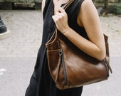 Seven Pocket Tote  -  Small  |  soft leather tote - soft leather shoulder bag - leather tote