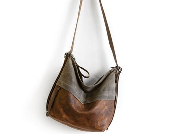 City Safari - Single Zip | Hobo Leather Bags, Hobo Crossbody Bags, Waxed Canvas, Adjustable