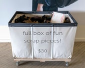 box of scrap - italian leather