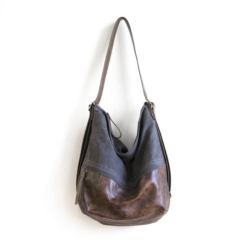 192ad505bc Hobo Leather Bags Hobo Crossbody Bags Waxed Canvas Hobo Bag