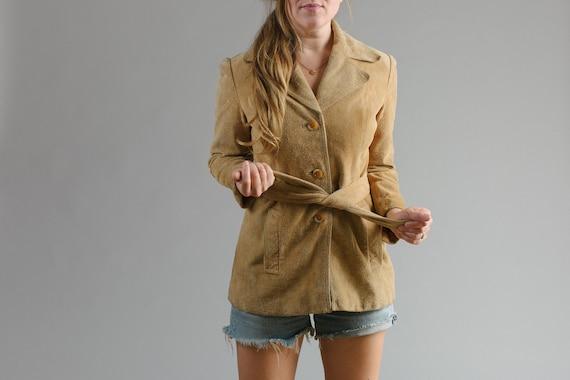 Mustard Suede Tie Waist Jacket