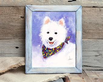 GOT ESKIE AMERICAN ESKIMO SLED DOG GRAPHIC DECAL STICKER ART CAR WALL DECOR