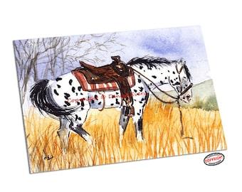Appaloosa Horse Art Print Appaloosa Art Trail Horse Western Art Equine Art Horse Appaloosa Horse Lover Horse Gift Horse Decor Denise Every