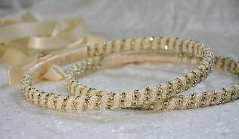 Koumbara Orthodox Wedding Crown Greek Orthodox Wedding Ivory Gold Stefana Crowns Gold Stefana