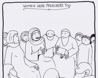 Women were Preachers Too CARTOON