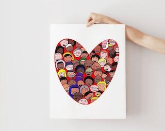 All Are Welcome | Kindness Matters | Be Kind Wall Hanging | Inclusion Print | We Are All One | Kids Inclusion Print
