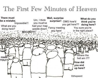 the first few minutes of heaven CARTOON