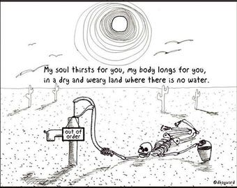 Dry and Thirsty Land CARTOON
