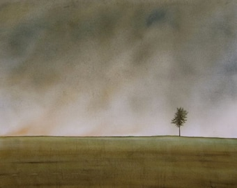 Alone But Not Lonely WATERCOLOR PAINTING