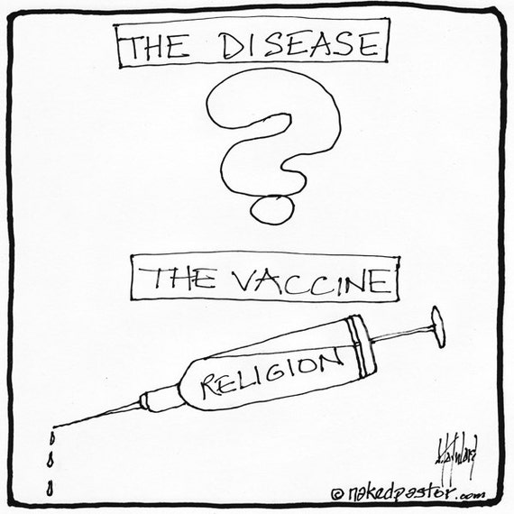 Items Similar To Vaccine Or Anti Vaccine Cartoon On Etsy