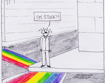 Rainbow Crosswalk CARTOON