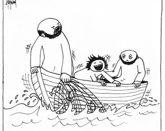 Rocking the Boat CARTOON