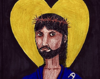 Jesus Safety CARTOON, LGBTQ, Affirming Church, Queer Christian, Gay Pride.