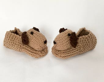 8a1a05a466ee Dog Slippers Puppy Slippers Animal Slippers - Children s Knitted Slippers  Made to Order