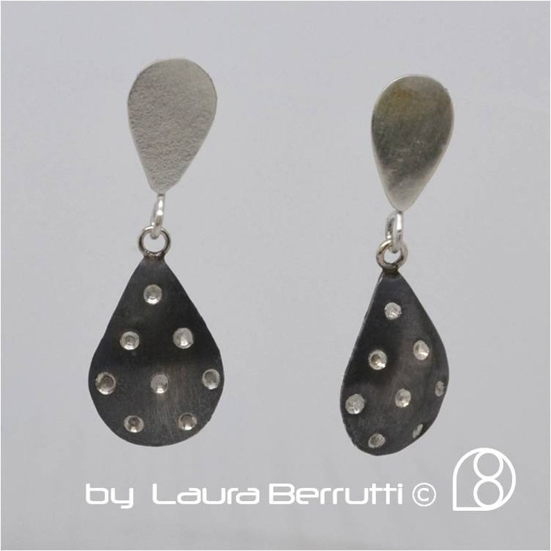 Polka Dots Sterling Silver Eearring image 1
