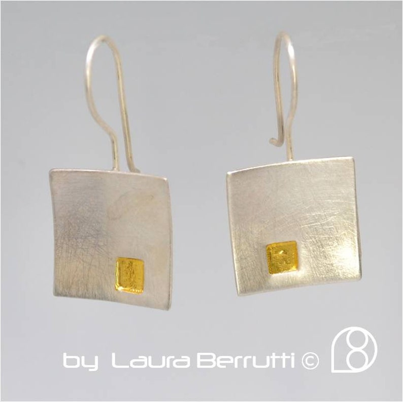 Square in Square Sterling Earrings 9 image 1